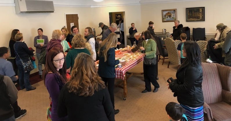coffee hour, fellowship, photo