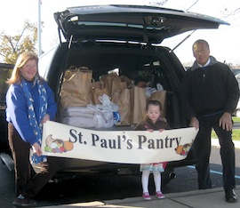 St Paul's food pantry