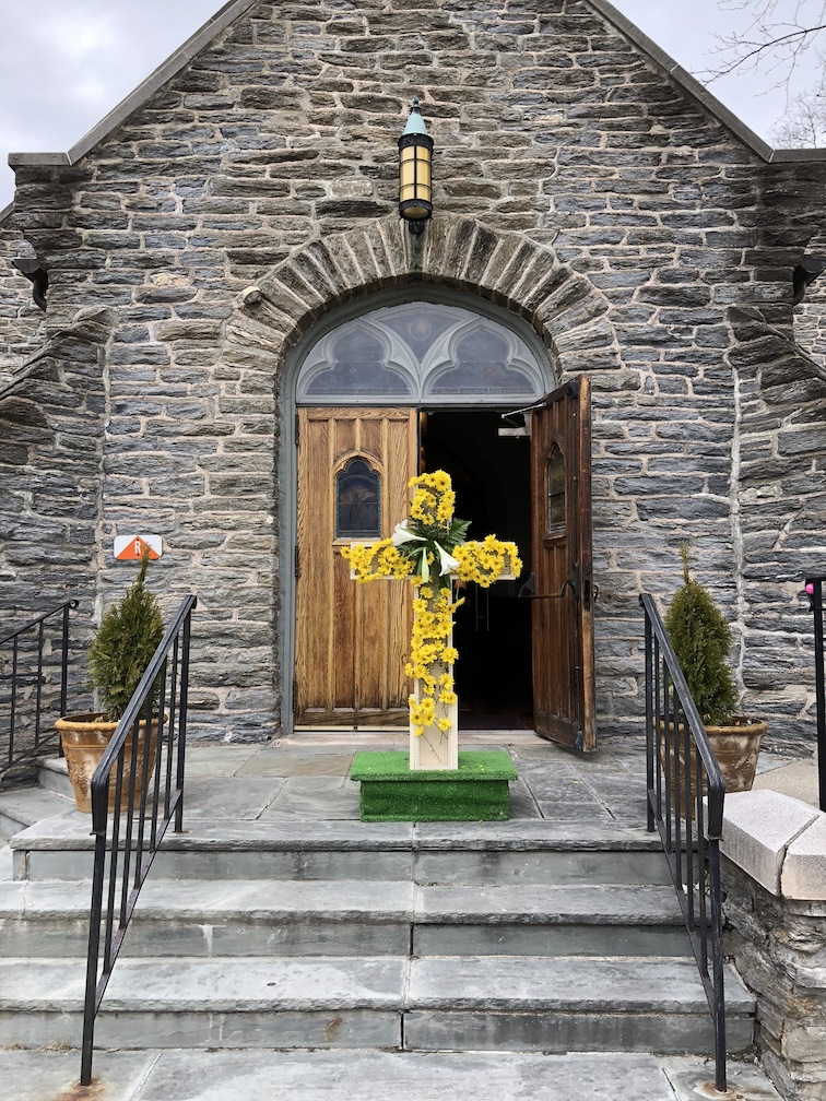Easter, cross, flowers, Christ Church Ridgewood NJ